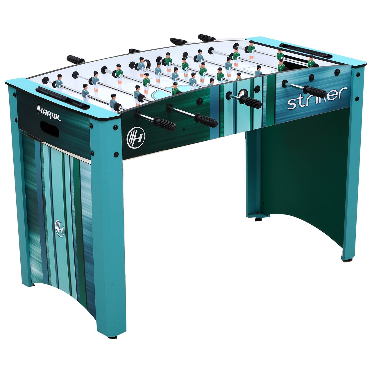 Harvil Striker 4 Foot Foosball Table for Kids and Adults with Safety Telescoping Rods, Manual Scorers, and Free Foosballs by Harvil
