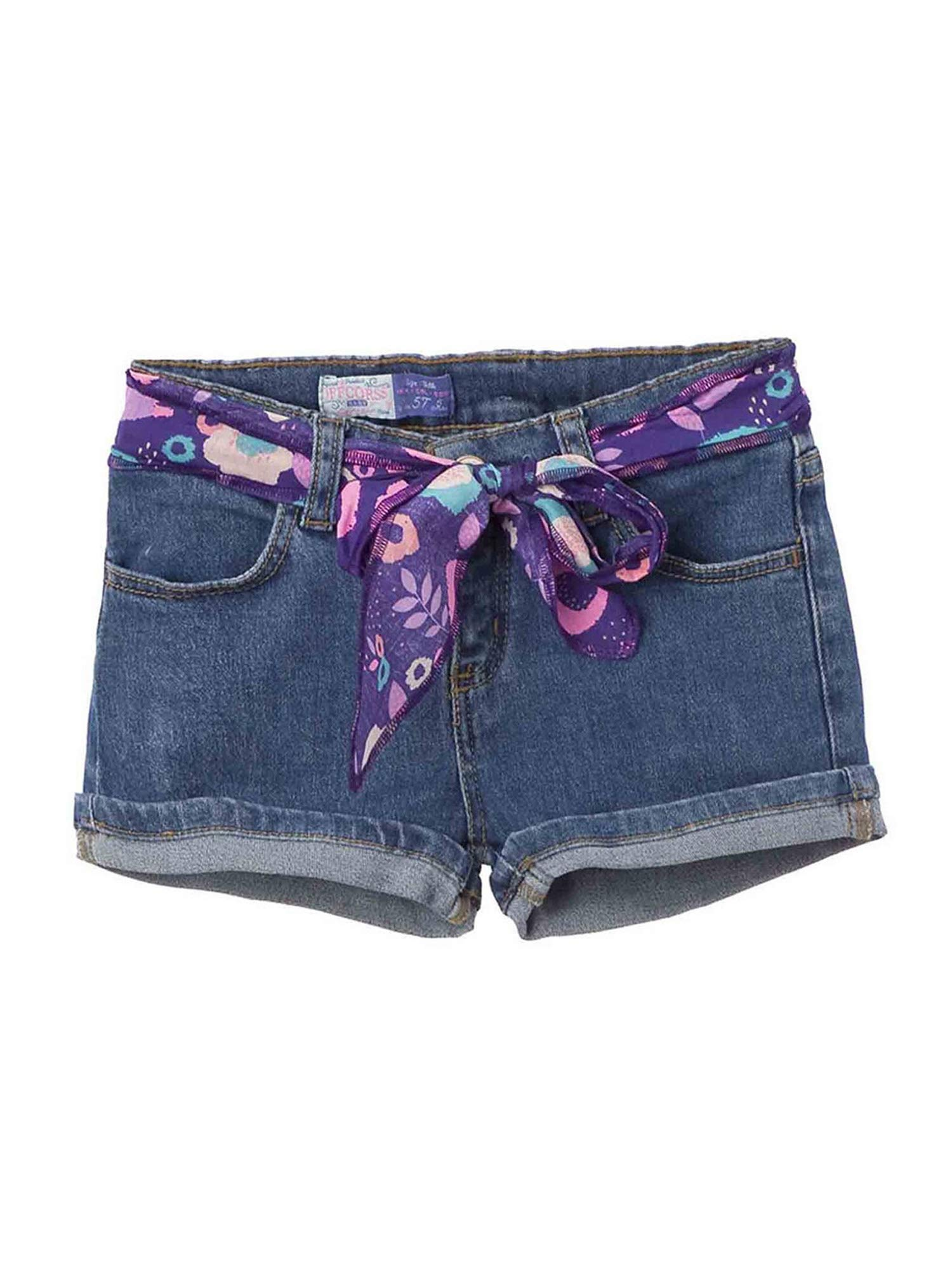 OFFCORSS Toddler Baby Girl Kid Prime Cute Stretchy Slim Loose Denim Jeans Colored Play Shorts for Summer Ropa Casual de Niña para Verano Blue 3T