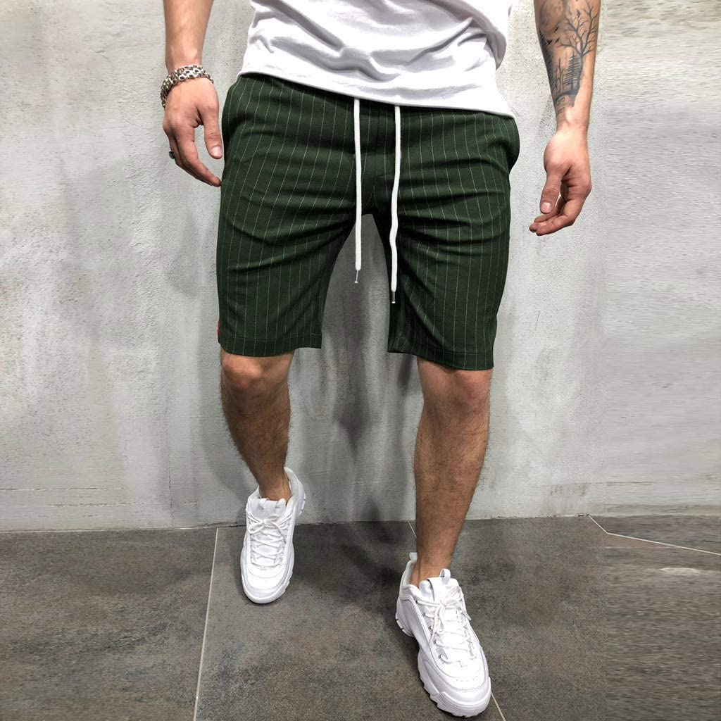 Mens 2019 Hot Sale Casual Shorts with Pockets Cuekondy Summer Fashion Striped Beach Sports Workout Gym Shorts Pants