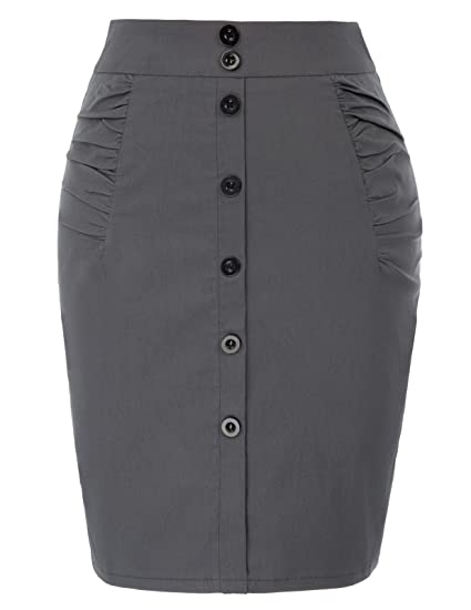 35bbbcd83fef Kate Kasin Wear to Work Pencil Skirts for Women High Waist at Amazon ...