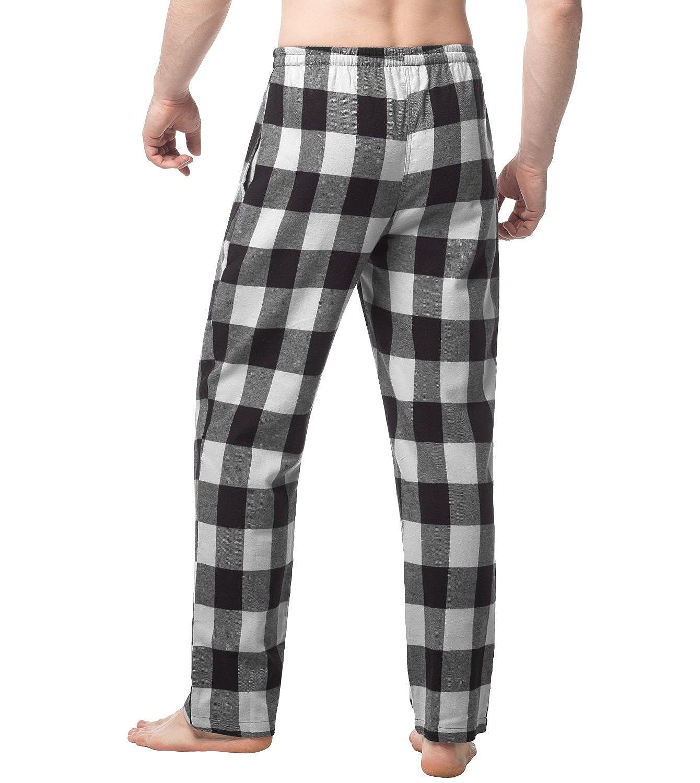 LAPASA Mens 100/% Cotton Woven Flannel Pajama Lounge Sleep Pants Plaid PJ Bottoms w Pockets and Drawstring M39