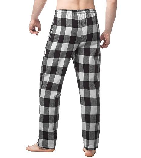 LAPASA PerfectSleep - Pijama de 100% Algodón Franela con Estampado Escocés para Hombre M39: Amazon.es: Ropa y accesorios