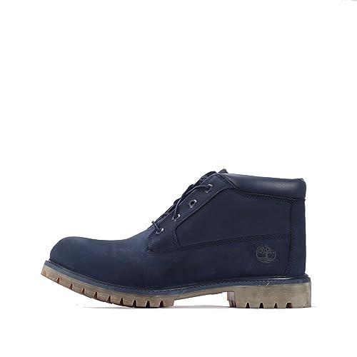 Timberland Nelson Premium Mens Chukka Boots - Botas de Piel Para Hombre Azul Azul Marino 45 EU, Color Azul, Talla 46 EU: Amazon.es: Zapatos y complementos