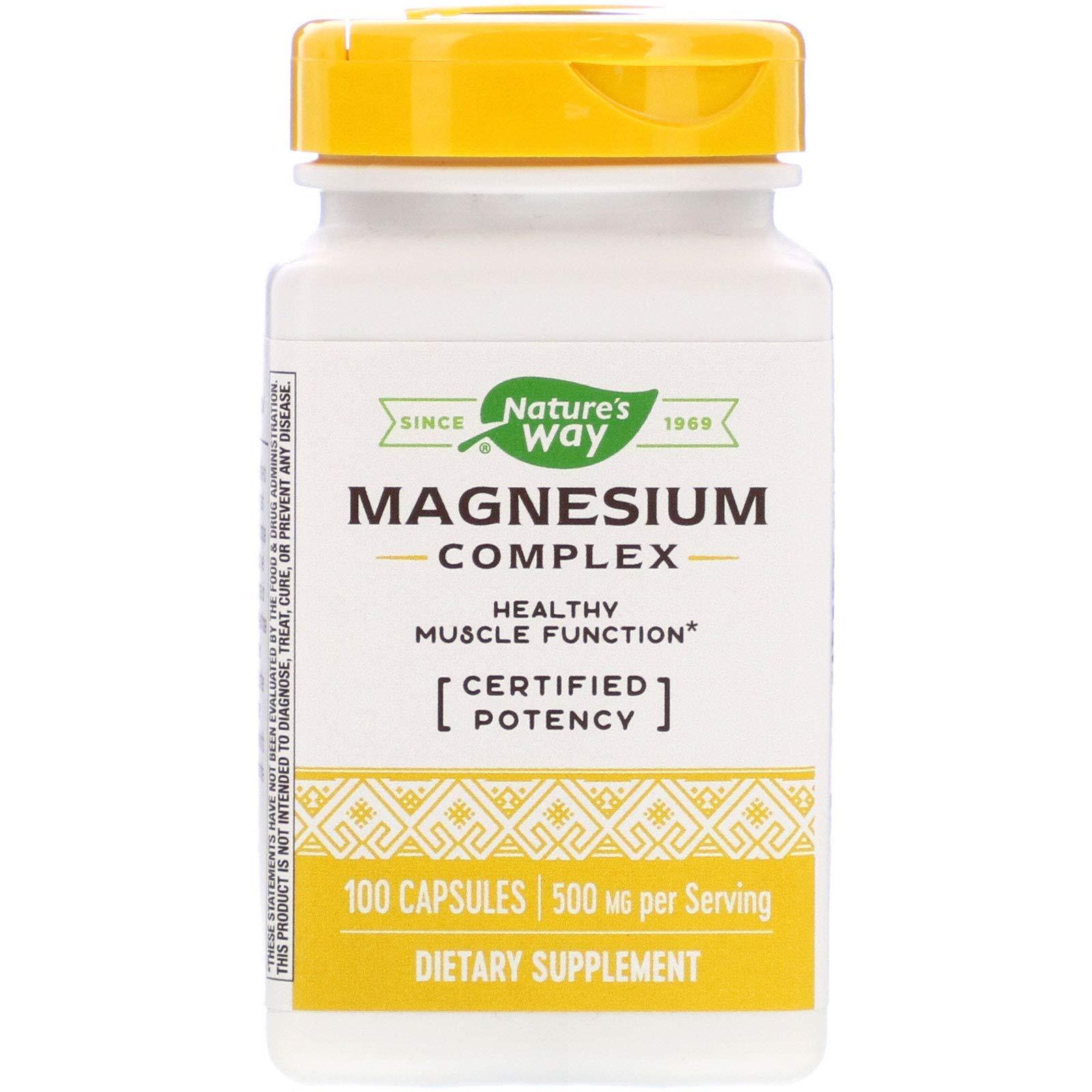 Nature's Way Magnesium Complex, 100 Capsules, Pack of 2