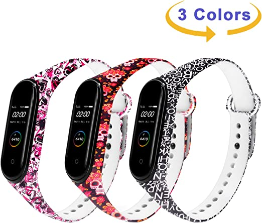 Monuary 3 Piezas Correas para Xiaomi Mi Smart Band 4 / Mi Band 3 Pulsera, Silicona Reloj de Recambio Brazalete Coloridos Correas para Xiaomi Mi Band 4 / Mi Band 3: Amazon.es: Deportes y aire libre