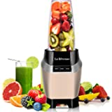 Professional Personal Blender 1000Watt Making Shakes and Smoothies-with 24 oz BPA Free Portable Travel Bottle - Dishwasher Safe