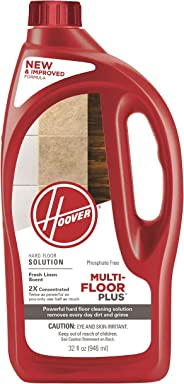 Hoover Multi-Floor Plus 2X Hard Floor Cleaner Solution Formula, 32 oz, AH30425NF, Red
