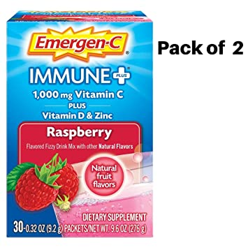 Amazon.com: Emergen-C Immune Plus Vitamina C mezcla de ...