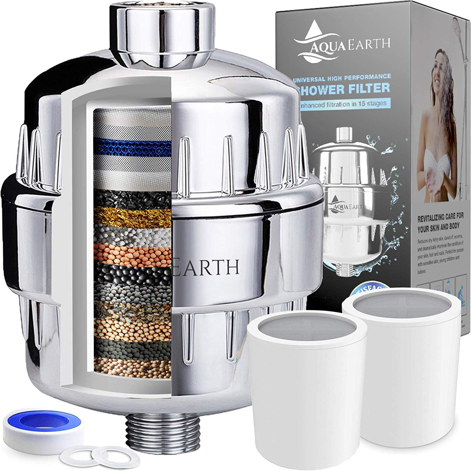 7. Aqua Earth 15-Stage Shower Filter