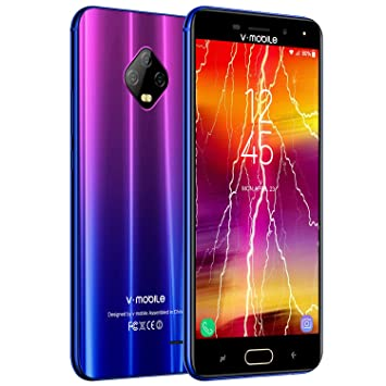 a8cb292df22 Moviles Libres Baratos 4G,V Mobile J7 5,5 Pulgadas 3GB RAM 32GB ROM,5800mAh  Bateria,8MP Camara,Dual Sim,Face ID (Violet): Amazon.es: Electrónica