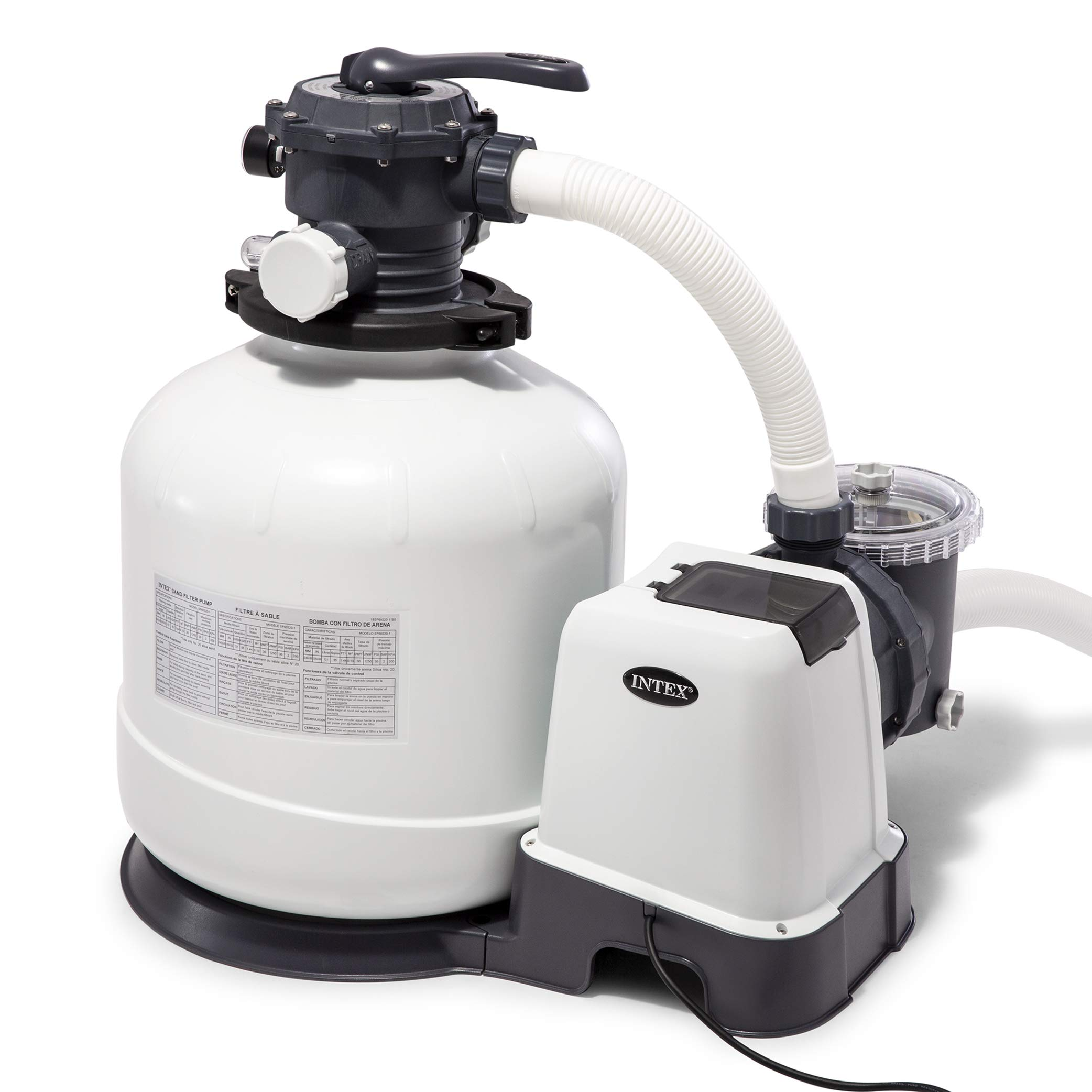 Intex Krystal Clear Sand Filter Pump For Above Ground Manual Guide