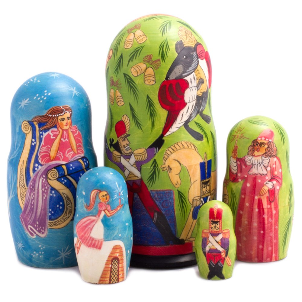 Books.And.More Nutcracker Ballet Nesting Dolls Set 5pcs Matryoshka Dolls by Books.And.More (Image #1)