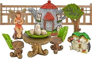 Arcadia Garden Products FG31 Tea Party Fairy Garden Kit-11 Piece