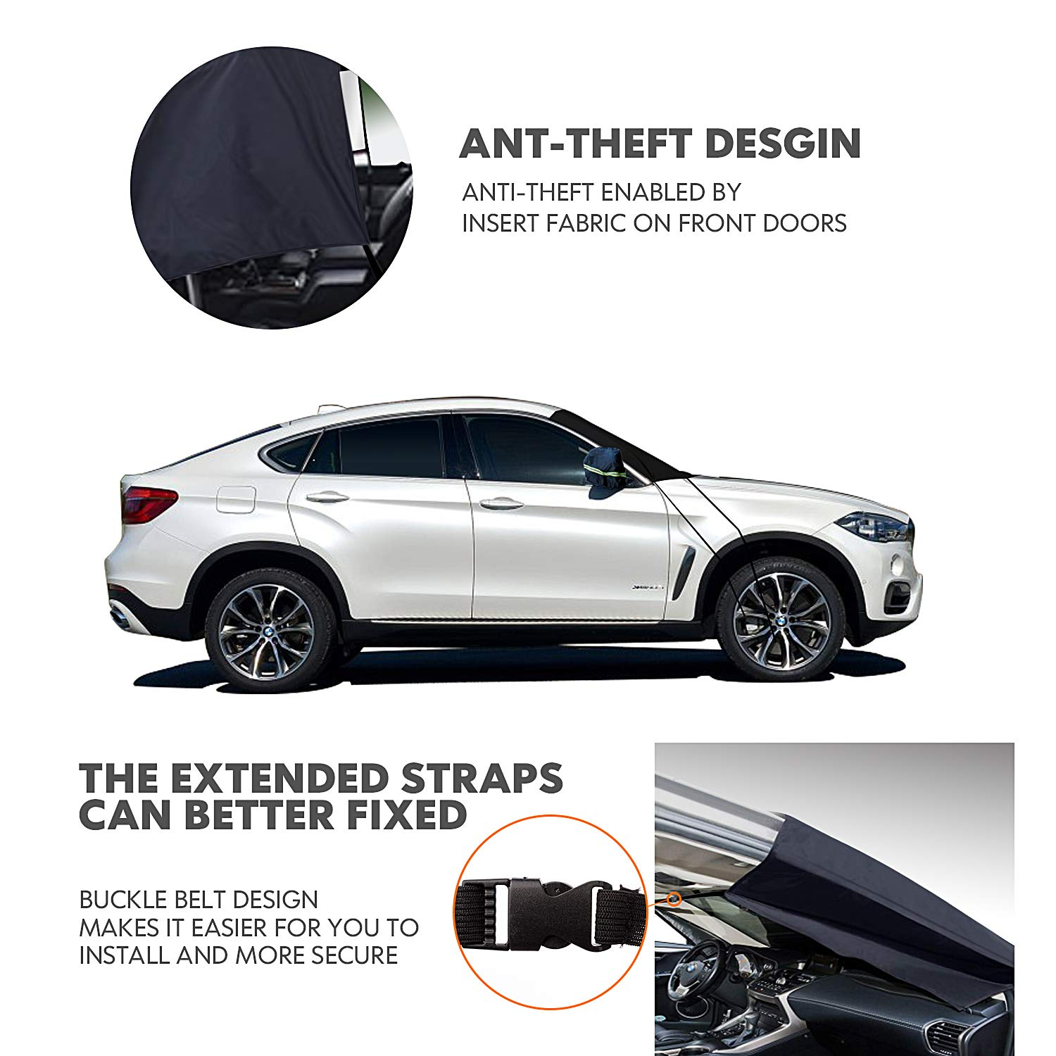 NEW Car Windscreen Cover LARGE Protector Anti Frost Snow Dust Sun Shield