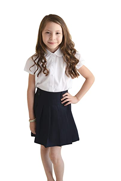 6bf41e37e1 Amazon.com  unik Girls  Uniform Button Down Blouse White Shirt  Clothing