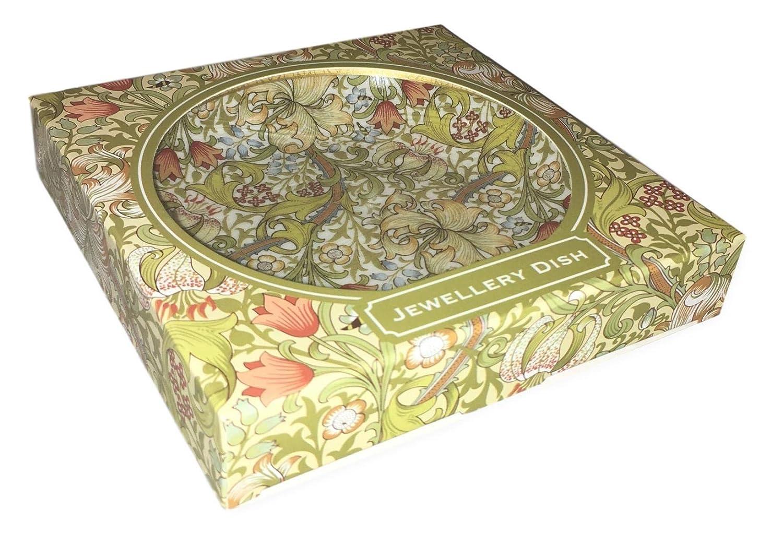 The Leonardo Collection William Morris Golden Lily Dish Trinket and Jewellery Holder Fine China LP41307 15x3x15cm Multicolour