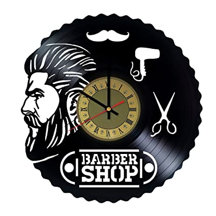 Marvelous Barber Shop Tools Vinyl Record Wall Clock   Gift Idea For Hairdressers,  Stylists, Barbers