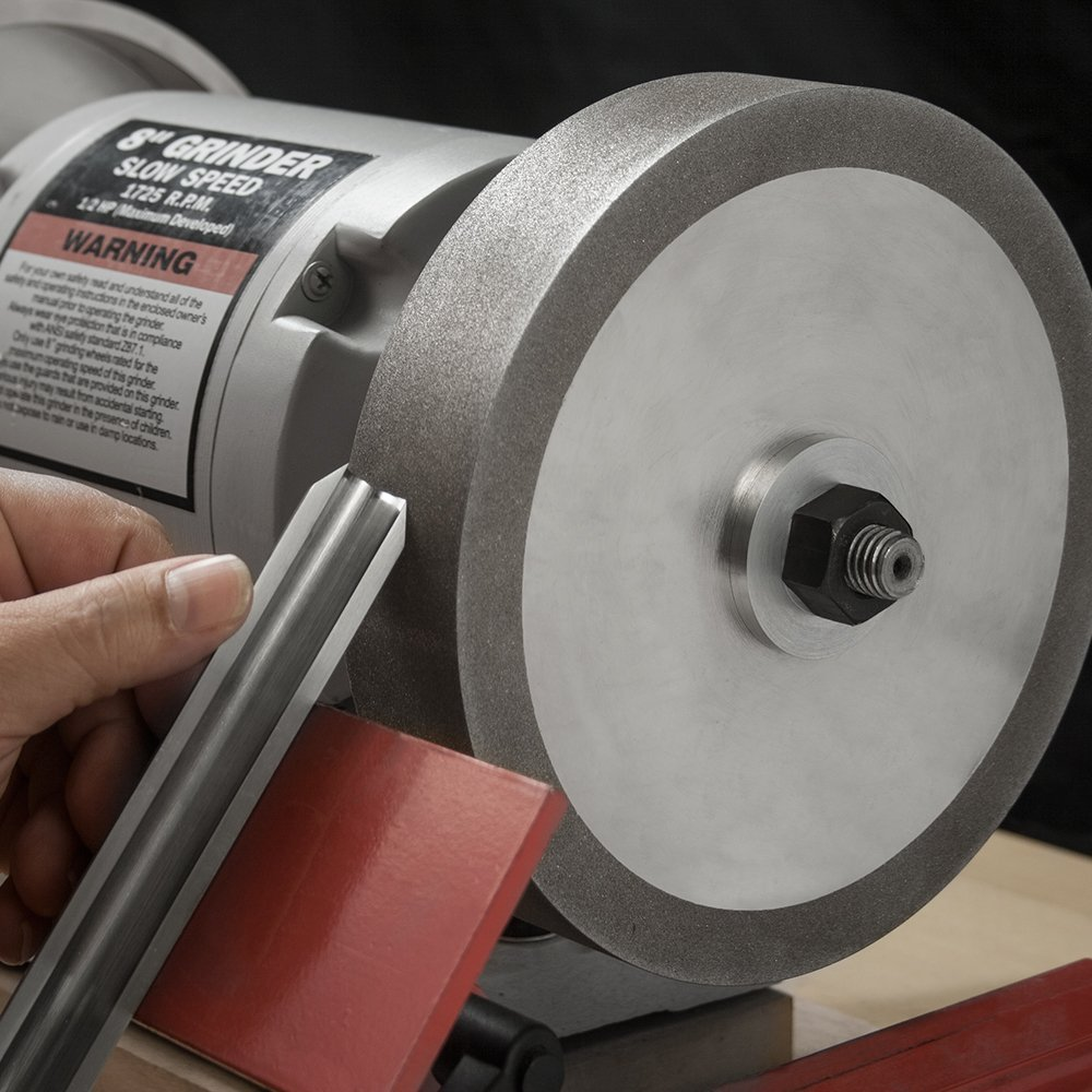 8'' x 1.5'' CBN Grinding Wheel, 5/8'' Bore - Sharpen High Speed Steel & Carbide Tools (80 Grit) by Peachtree Woodworking (Image #2)