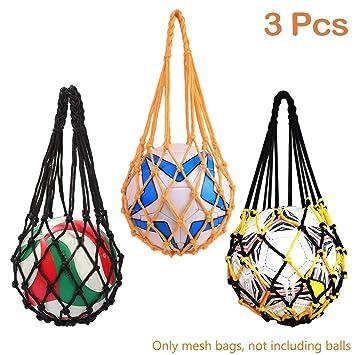 Bolsas de Malla de Almacenamiento para balones de fútbol, 3 ...