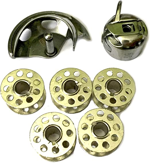 Gancho para máquina de coser doméstico + caja de bobina + 5 bobinas Singer, Toyota: Amazon.es: Hogar