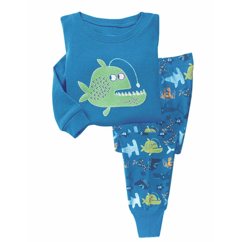 Garsumiss Pijamas para Niños traje de Pescado Vestido de fiesta de ropa de algodón de manga larga de algodón: Amazon.es: Ropa y accesorios