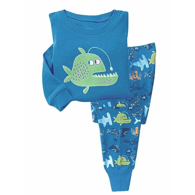 Garsumiss Pijamas para Niños traje de Pescado Vestido de fiesta de ropa de algodón de manga