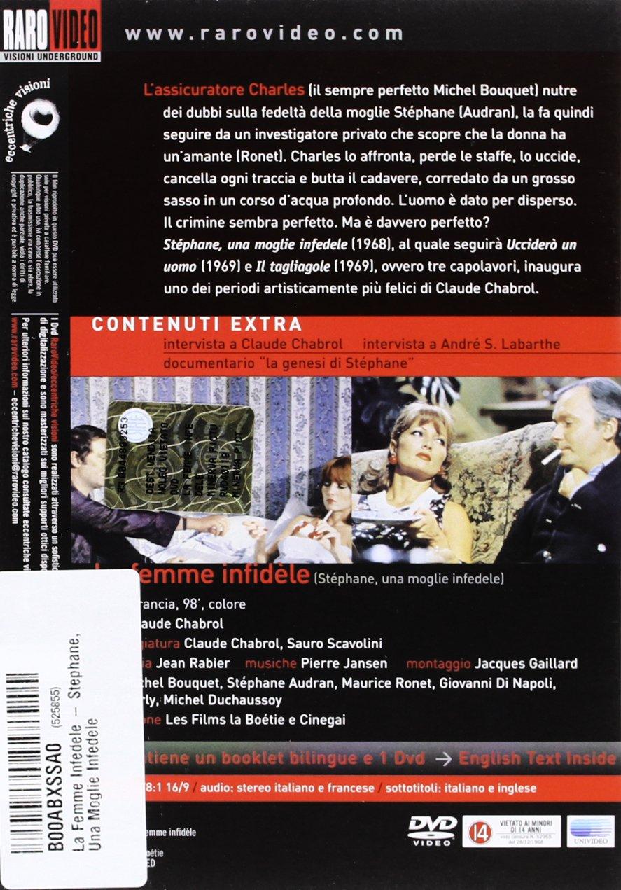 La Femme Infidèle - Stephane, una moglie infedele: Amazon.it: Michel  Bouquet, Claude Chabrol: Film e TV