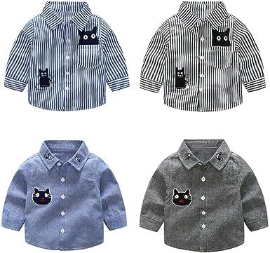 QinMM Camisa a Rayas para bebé niño y niña, Manga Larga ...