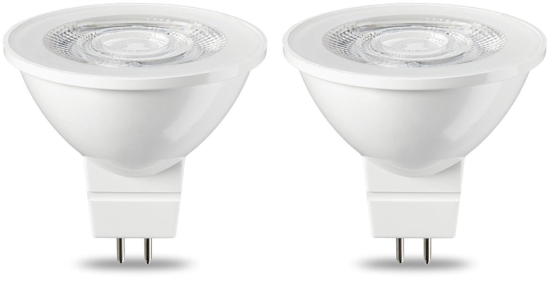 Basics Spot LED type GU5.3 MR16, 4.5W (é quivalent ampoule incandescente de 35W), blanc chaud - Lot de 2 4.5W (équivalent ampoule incandescente de 35W) 35W GU5.3 WW 36D ND 2PK NEW