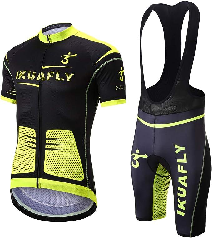 Herren Radtrikot Set 2020 Trikot Tragerhose Kurzarm Radhose Sitzpolster Fahrrad Cycling Jersey Pant Short Sets