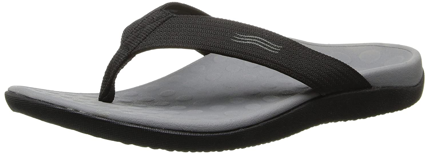 7788a5f60 Amazon.com | Orthaheel Vionic Wave - Black - Unisex Sandals Black - Men's 9  / Women's 10 | Sandals