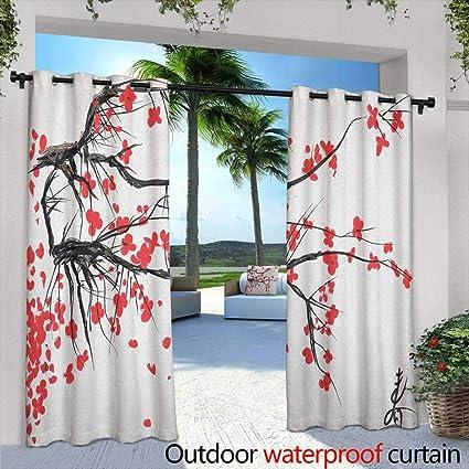 Amazon.com  LOVEEO Nature Doorway Curtain Sakura Blossom