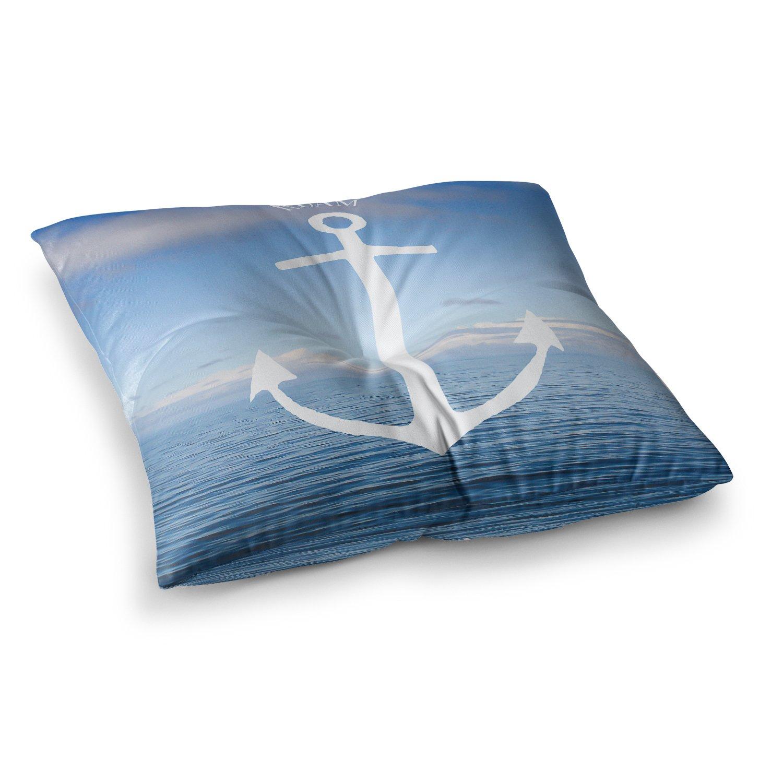 Kess InHouse Ann Barnes Roam III Anchor 23 x 23 Square Floor Pillow