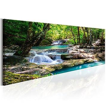 Decomonkey | Bilder Wasserfall 120x40 Cm | 1 Teilig | Leinwandbilder | Bild  Auf Leinwand |