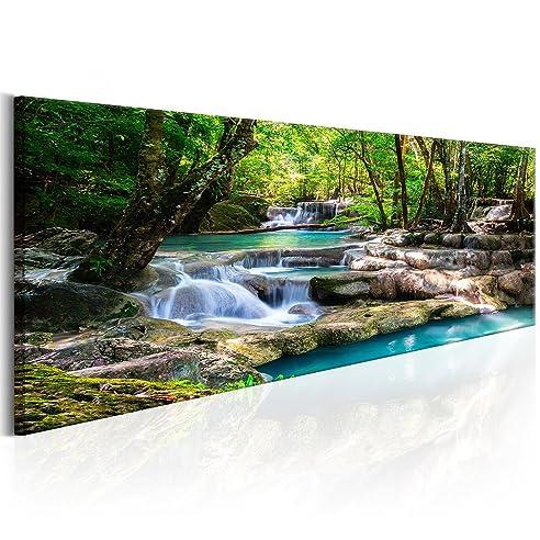 Wandbilder natur  decomonkey | Bilder Wasserfall 120x40 cm | 1 Teilig ...