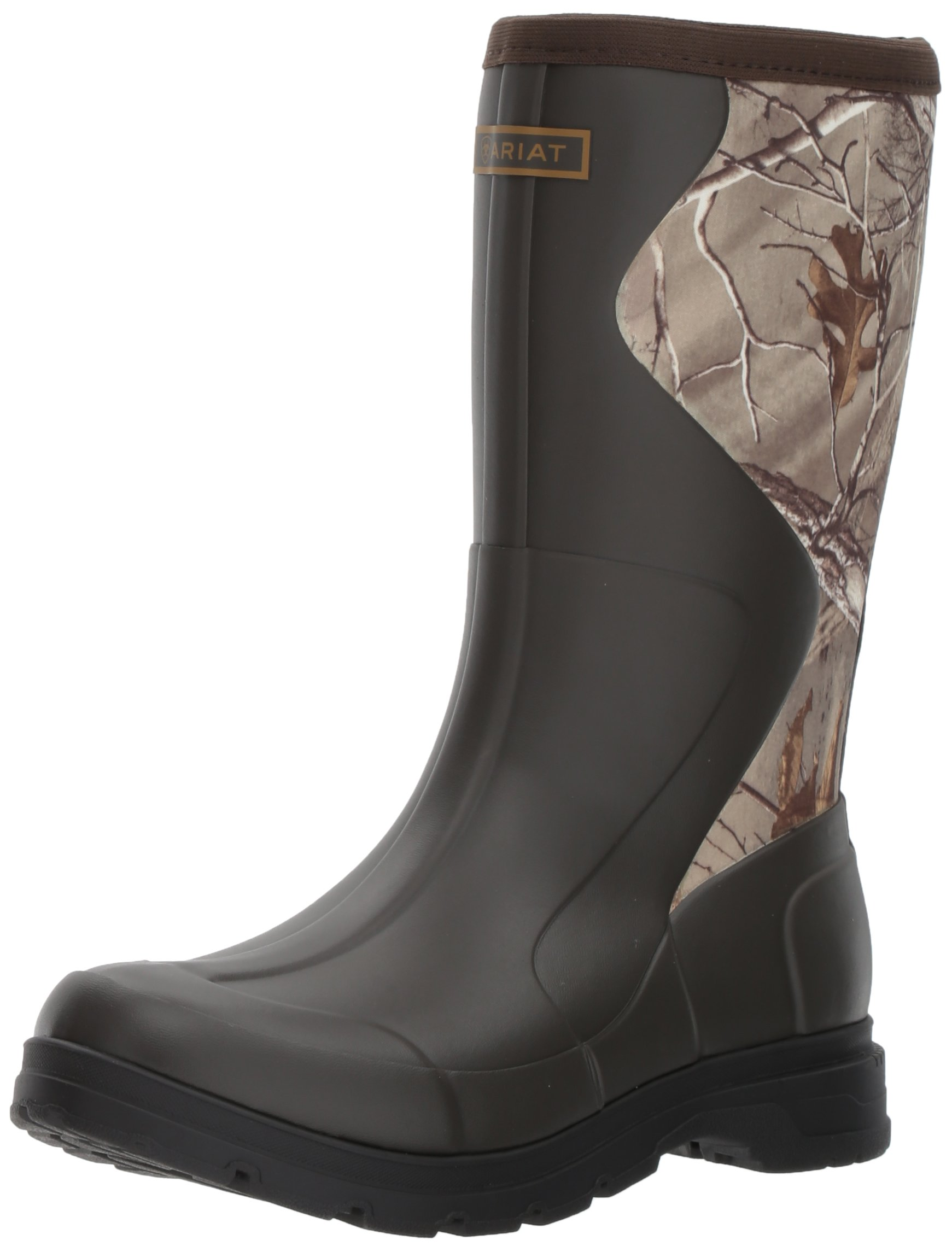 Ariat Women's Springfield Rubber Work Boot, Dark Brown, 9 B US