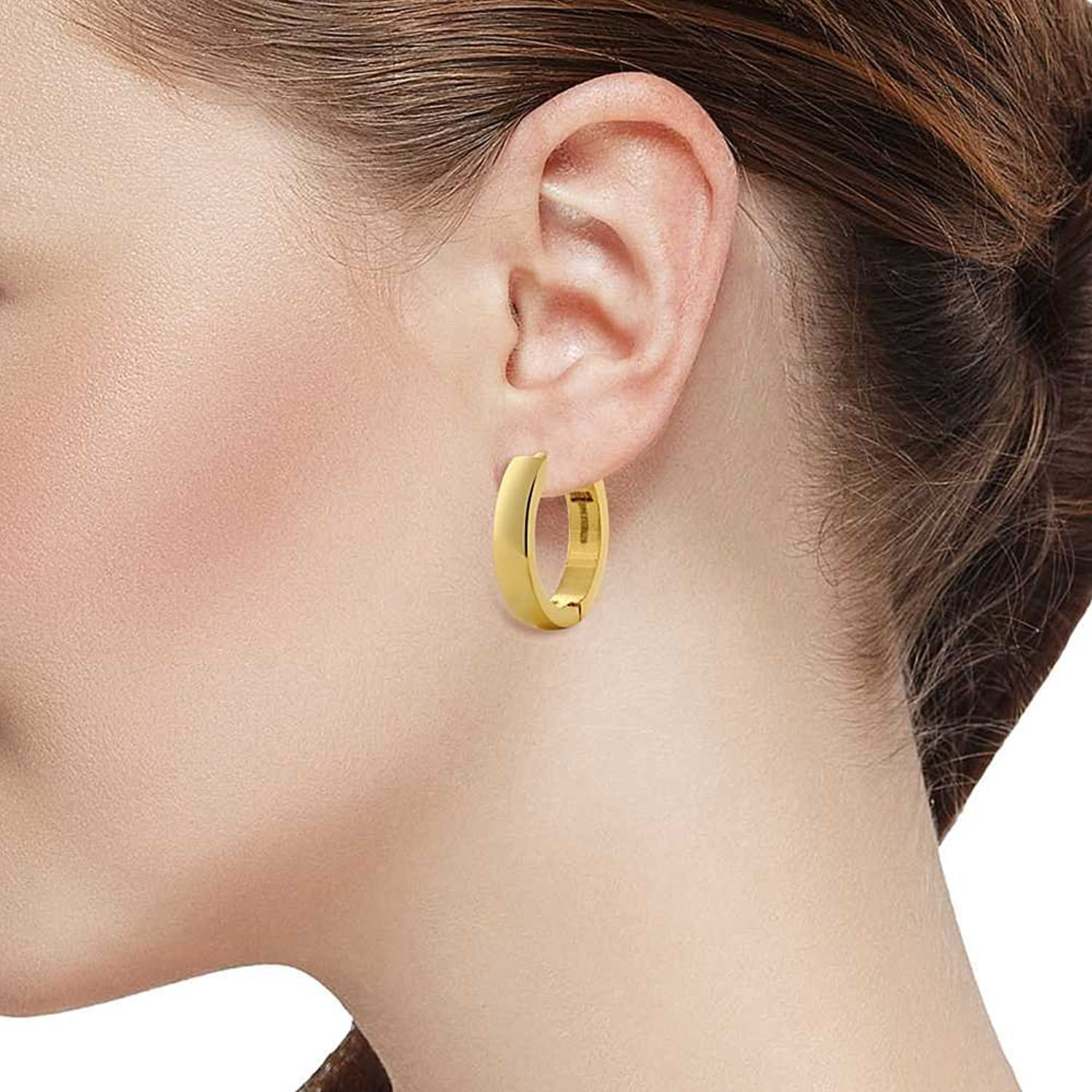 sale accessories women hung hoop medium earring stud whistles gold
