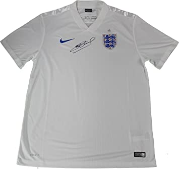the best attitude 38cca 9312b Steven Gerrard Signed Team England Home Jersey (Icons Auth ...