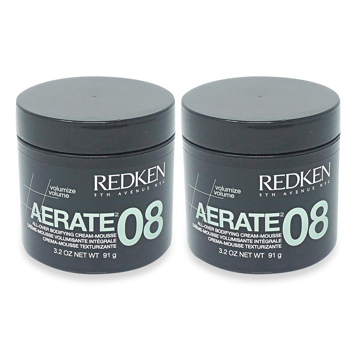 Redken Aerate 08 All-Over Bodifying Cream Mousse, 3.2 Ounce- Pack of 2