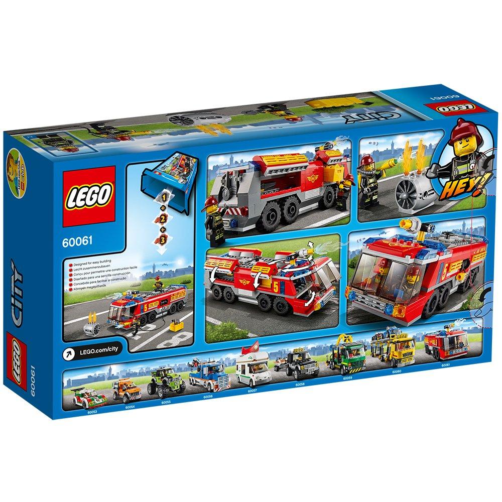 Lego City 60061 Flughafen Feuerwehrfahrzeug Amazon De Spielzeug