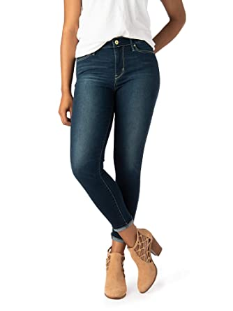 e5ab4f7e Image Unavailable. Image not available for. Color: Signature by Levi Strauss  & Co. Women's High Rise Ankle Skinny Cuff Jeans ...