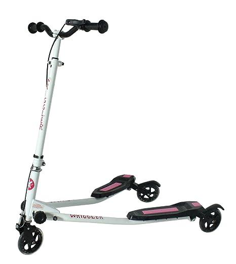 Kidzmotion niño inquieto 3 ruedas scooter de oscilación del reductor de velocidad vagabundo (edad 5 - 9) de color rosa