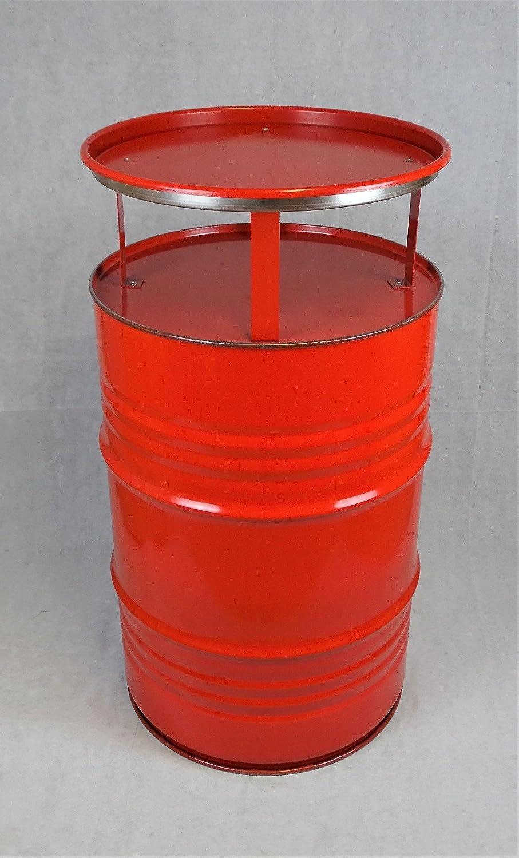 Fassmöbel Stehtisch Bistrotisch Tisch Design Partytisch Rot Ø 57cm Höhe 108cm   Glatter Glanz - pflegeleichte Oberfläche