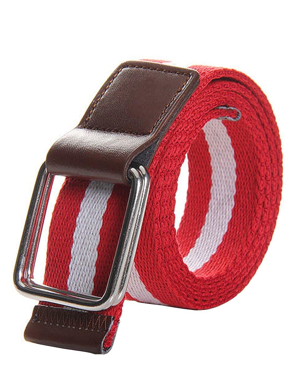 Gardening Spring Mens Canvas Belt Adjustable Waist Belt Double Buckle Belt