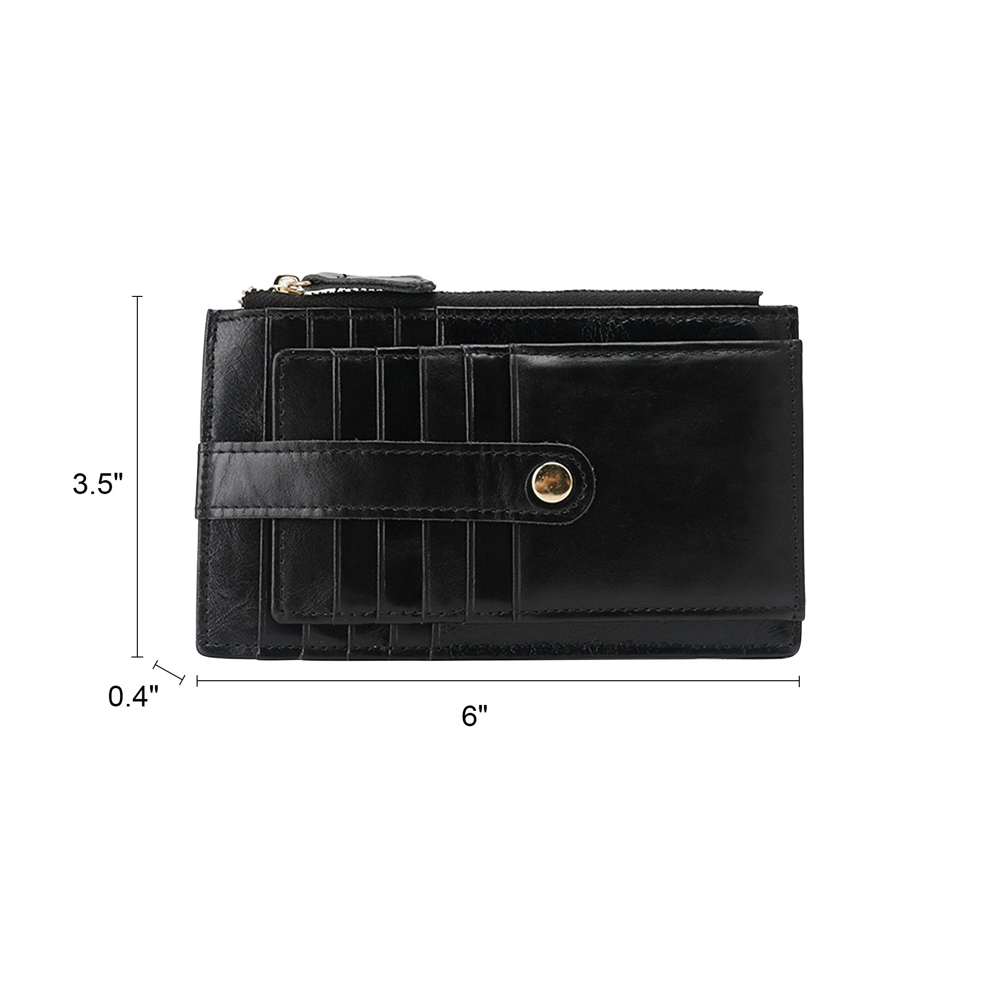 Onstro RFID Blocking Wallets for Women Genuine Leather Multi Credit Card Organizer with ID window by Onstro (Image #6)