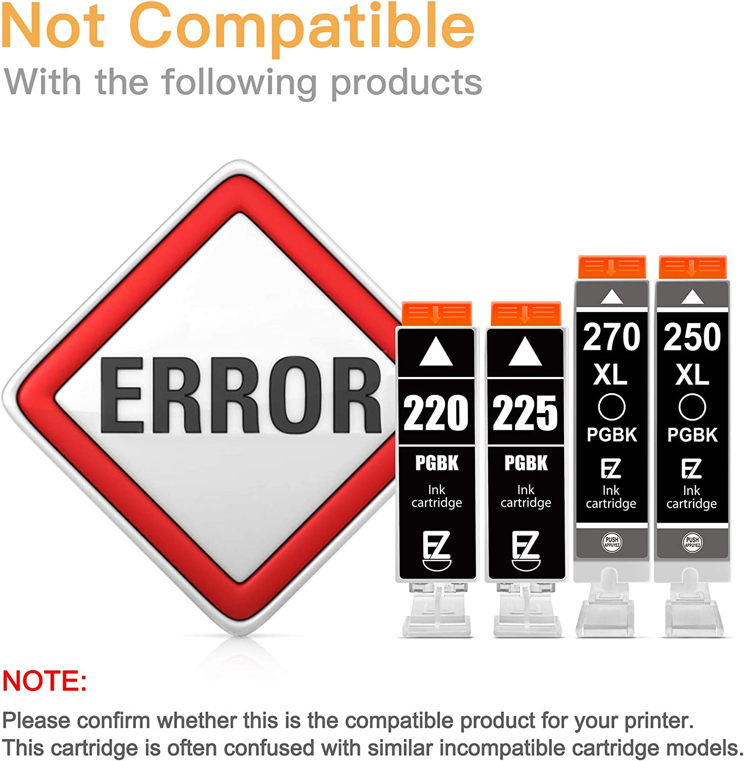 E-Z Ink (TM) Compatible Ink Cartridge Replacement for Canon PGI-280XXL CLI-281XXL 280 XXL 281 XXL for PIXMA TR7520 TR8520 TS6120 TS6220 TS8120 TS8220 TS9120 TS9520 TS6320 TS9521C Printer (5 Pack): Office Products