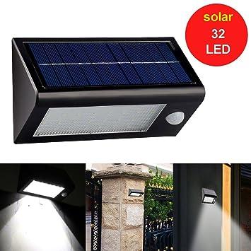 LED SopoTek 32 LED Waterproof IP65 Solar Powered Outdoor Motion Sensor  Light 32 LED Staircase Stair