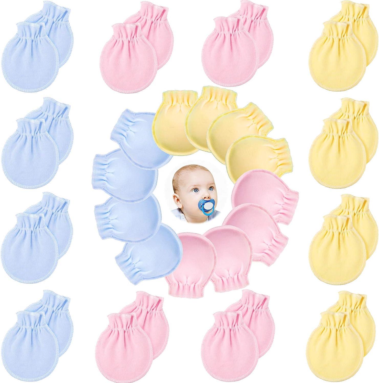 18 Pairs Baby No Scratch Gloves Newborn Cotton Gloves Infant Anti-Scratch Mittens for 0-6 Months Boys Girls