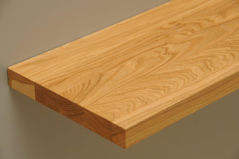 Holzboden mit Tragarmen Regalboden Regalbrett Brett für Wandregal 61,5 x 35 cm