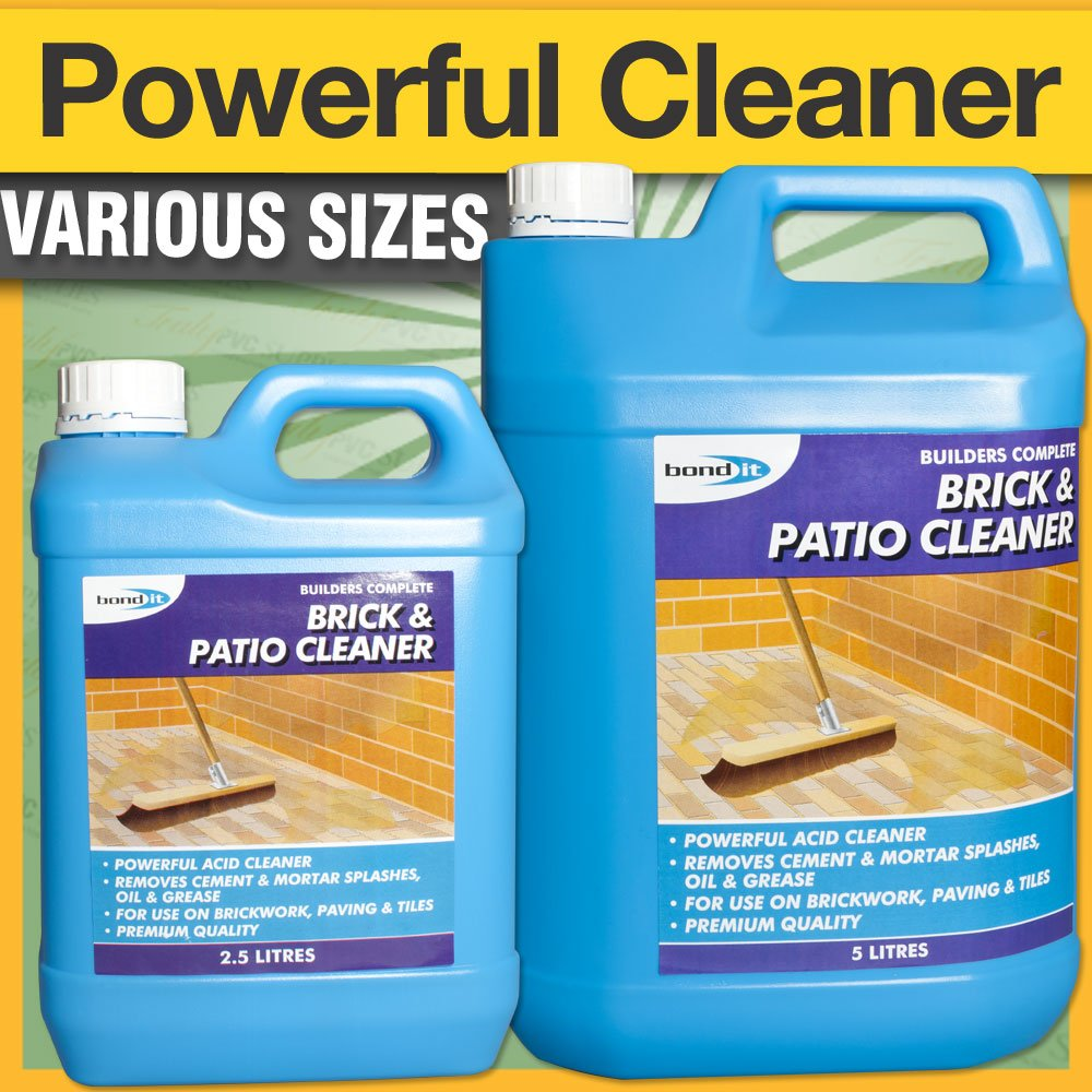 Bond It Brick U0026 Patio Acid Based Cleaner   2.5 Litre, A Powerful Acid Based  Cleaner That Will Remove Cement And Mortar Splashes, Grime, Oil, ...